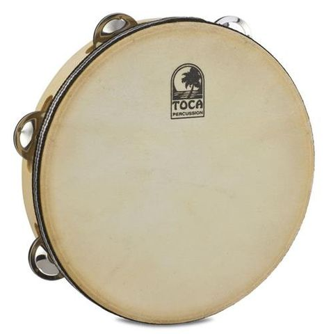 Toca 9in Single Row Tambourine w/Head