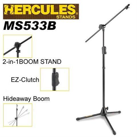 Hercules 533B EZ Clutch Mic Stand w/Boom