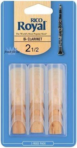 Rico Royal 3 Pack 2.5 Clarinet Reeds
