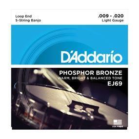 D'Addario J69 Banjo Strings - Lite