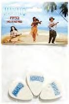 Mahalo Ukulele White Felt Picks