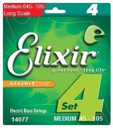 Elixir 45-105 Nano Bass Medium Strings