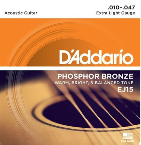 Daddario EJ15 Earth 10-47 XL Strings