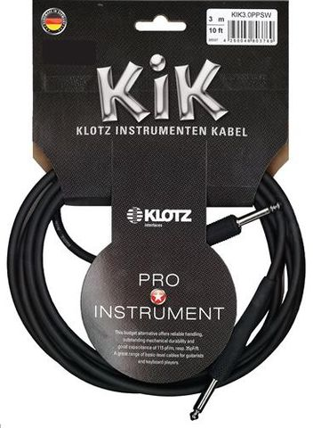 Klotz 3M J/J Black KIK Guitar Cable