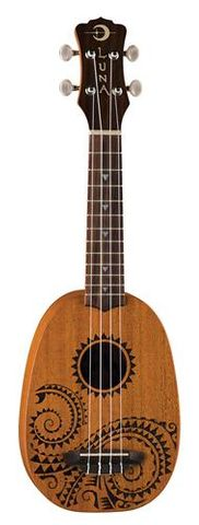 Luna SOPRANO Pineapple Tattoo Ukulele