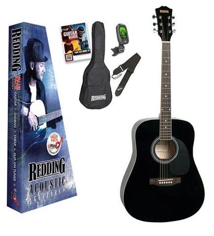 Redding 50 BLACK Acoustic Guitar Pack