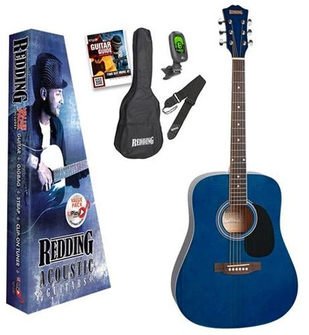 Redding 50 TRANS BLUE Acoustic Guitar Pk