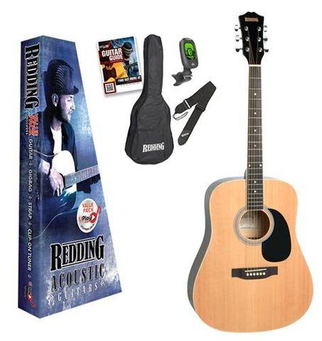 Redding 50 NATURAL Acoustic Guitar Pack