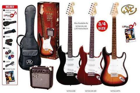 SX 3/4 RED Electric Guitar & Amp Pack