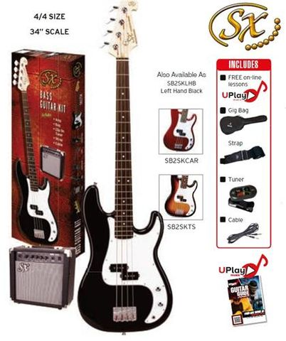 SX BLACK P Bass Guitar and Amp Pack