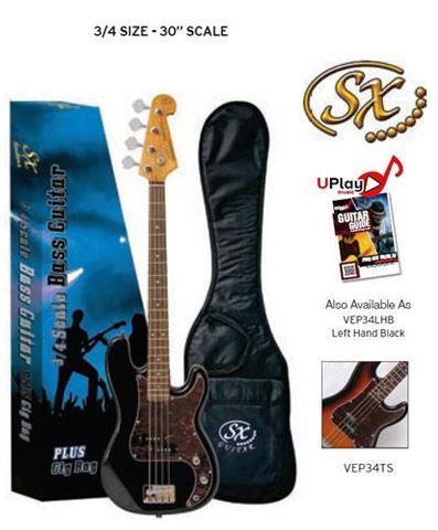 SX 3/4 BLACK Bass Guitar