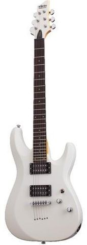 Schecter C6 Dlx WHITE Electric Guitar