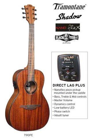 Lag T90PE Parlour Ac/El Guitar