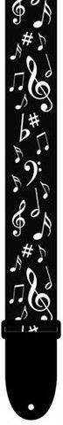 Perris 2in Black White Music Note Strap