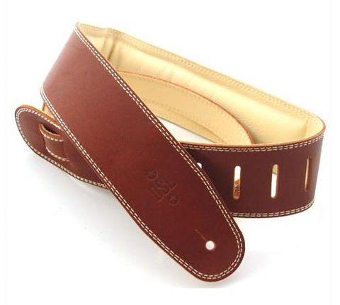 "DSL 2.5"" Maroon/Beige Leather Strap"