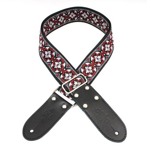 DSL Jacquard Red and Black Guitar Strap