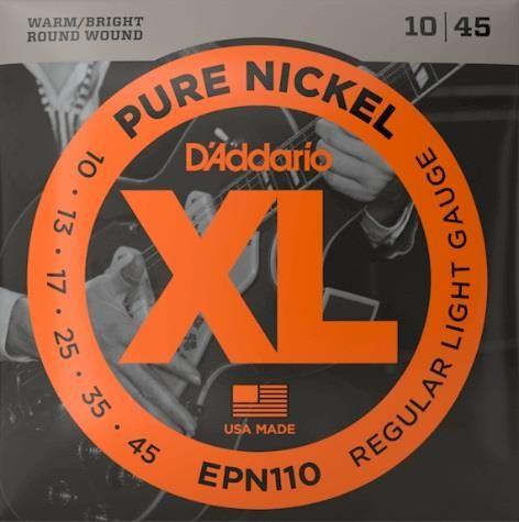 D'Addario EPN110 ELEC Nickel Reg Lite