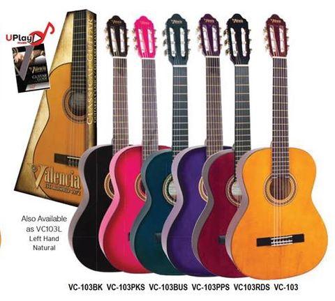 Valencia 3/4 BK100 Series Classic Guitar