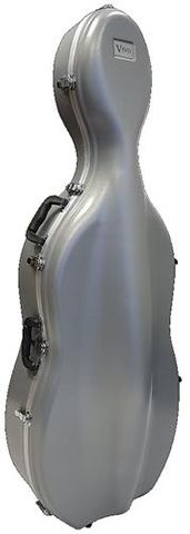 Vivo ABS 4/4 Cello Case - Silver