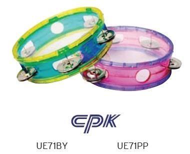 PINK & PURPLE 6in Transparent Tambourine