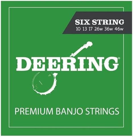 Deering 6 String Banjo 10 - 46 Set