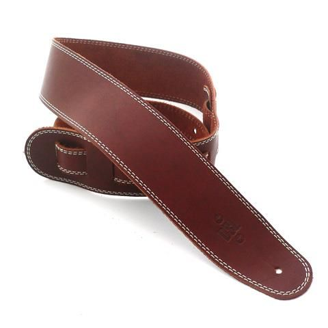 DSL 2.5in Brown Leather Guitar Strap
