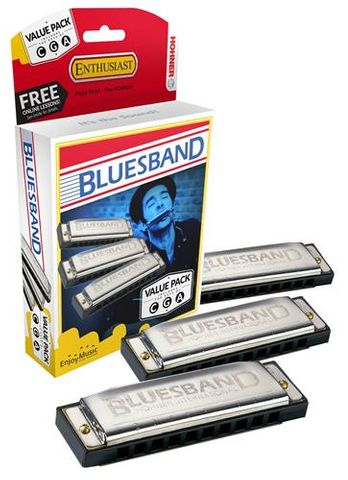 Hohner Box 3 Bluesband G C A Harmonica