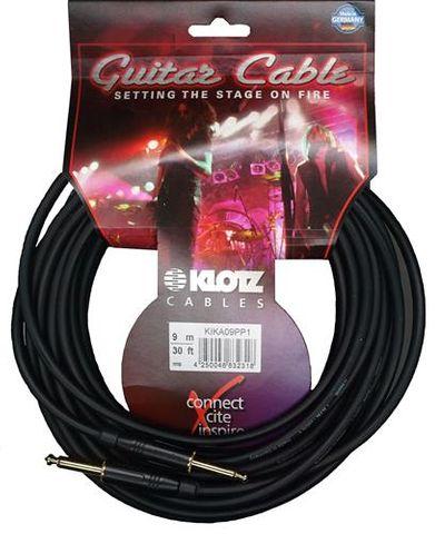 Klotz 9m SS Black AMPH Guitar Cable