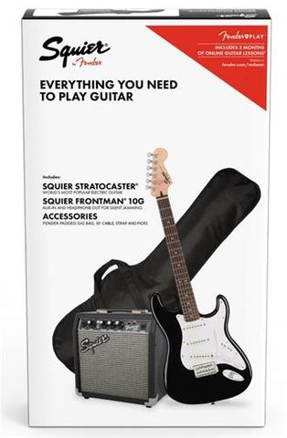 Fender SQ Strat BLACK Electric Gtr Pack