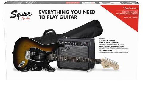Fender AF Strat HSS BSB Elect Guitar Pk