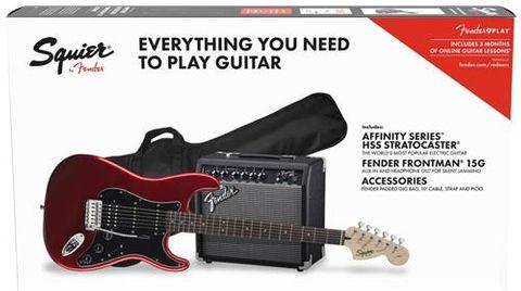 Fender AF Strat HSS CAR Elect Guitar Pk