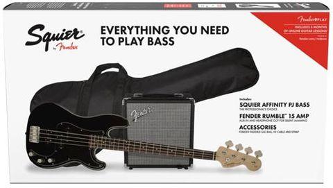 Fender PJ Bass BLACK Pack
