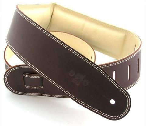DSL 2.5in Brown Beige Guitar Strap