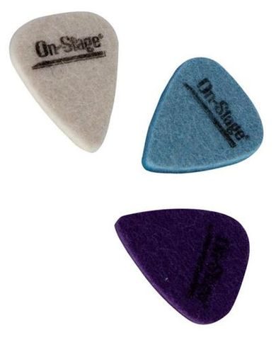 On Stage Pkt 3 Felt Ukulele Picks