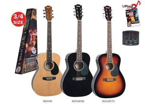 Redding 3/4 BLACK Ac/El Guitar