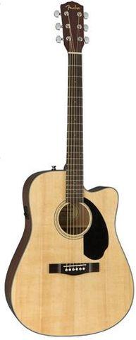 Fender CD60SCE Dread NAT WN Ac/El Guitar
