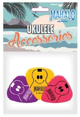 Mahalo Smiley Ukulele Pick Pack
