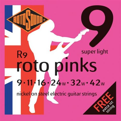 Rotosound NW 9-42 Pinks Electric Strings