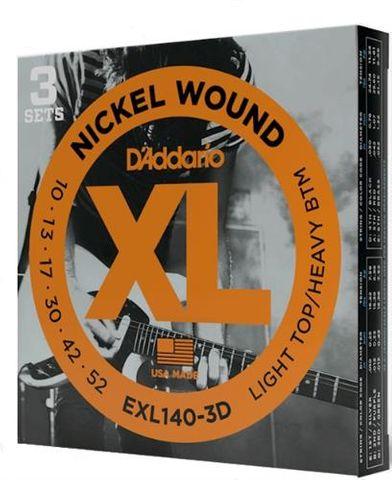 Daddario EXL140 3 Pack Elect XL L/Hvy