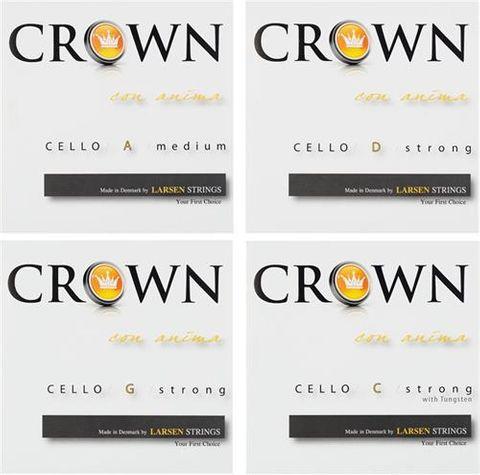 Crown by Larsen 4/4 Med Cello String Set