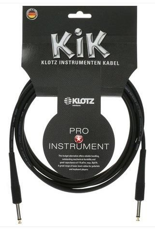 Klotz 3m BLACK KIK Guitar Cable