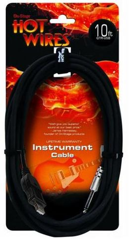 Hotwires 10ft  USB to Guitar Jack Cable