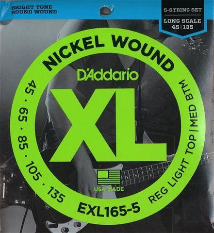 D'addario 45-135 Long 5 String Bass Strg