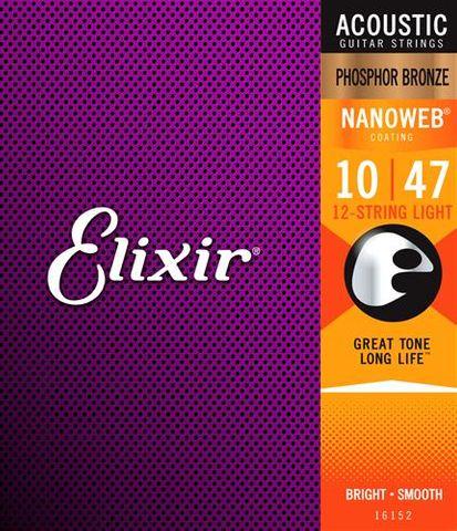 Elixir 10-47 Nano PB 12 String Light Str