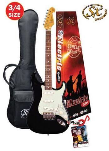 SX 3/4 Black Electric Guitar