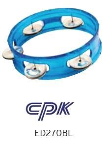 6in BLUE Transparent Tambourine