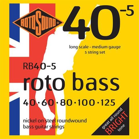 Rotosound RB405 Med 5 String Bass 40-125