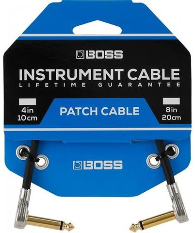 Boss BPC43 Pkt3 4in Pancake Patch Cables
