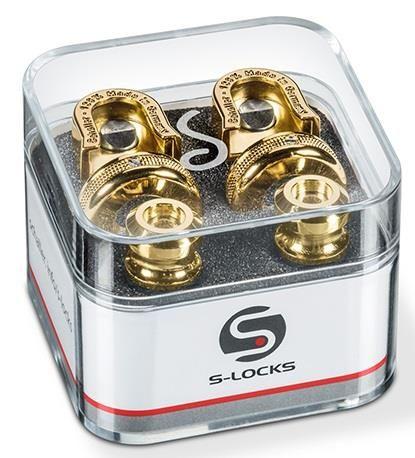 Straplock by Schaller Gold S-Locks Pair