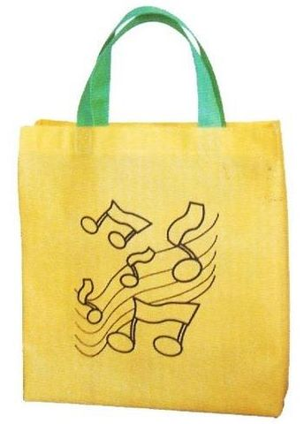 Gold with Notes Music Bag